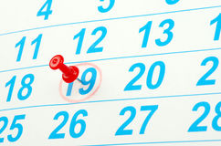 Calendar. Red circle on a calendar concept for an important day Stock Photo