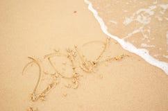 Calendar. 2012 on a sand beach Stock Photos