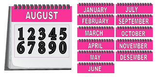 Calendar. Figures, months for editing Royalty Free Stock Image