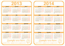 Calendar. 20113 - 2014 with room for text, vector royalty free illustration