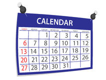 Calendar. Blue calendar icon on white background royalty free illustration