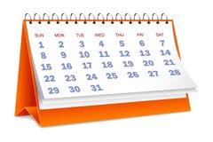 Calendar. Vector illustration of desktop calendar against white stock illustration