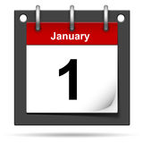 Calendar. 3D illustration of a calendar on January 1 vector illustration