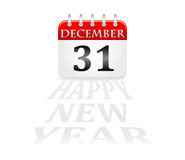 Calendar 31 december new year. Illustration Royalty Free Stock Photos