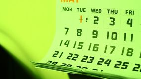 Calendar stock video