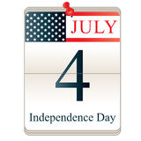 Calendar for 4th July Royalty Free Stock Photography