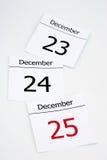 Calendar. Coming christmas royalty free stock image