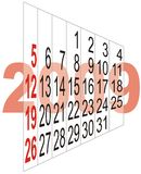 Calendar. 2009 color calendar with shadow stock illustration