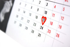 The Calendar Royalty Free Stock Photography