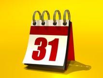 Calendar. 3D image of a flip book calendar royalty free illustration