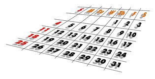 Calendar. Illustration of schedule in January 2009 royalty free illustration