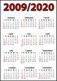 Calendar. 2009 calendar with white background Stock Photography