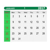 Calendar-2017 Photographie stock