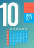 2017 Calendar.  Royalty Free Stock Photo