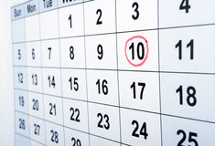 Calendar Royalty Free Stock Photos