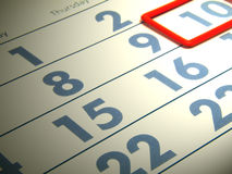 Calendar. Numerals of the calendar on white background Stock Images