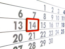Calendar. Numerals of the calendar on white background Royalty Free Stock Image