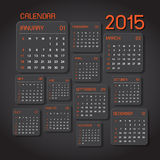 Calendar 2015 Abstract background Stock Images