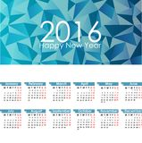 Calendar for 2016. Abstract illustration template design Royalty Free Stock Photo
