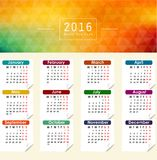 Calendar for 2016. Abstract illustration template design. Illustration of Calendar for 2016. Abstract illustration template design Stock Image