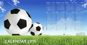 Calendar 2015. Abstract sport background Stock Images