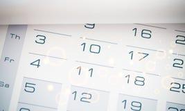 Calendar. Age clock concept lifetime agenda alarm stock photo