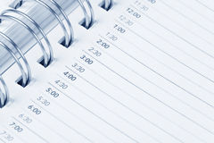 Calendar agenda. Schedule, close up shot for background Royalty Free Stock Image