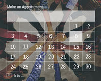Calendar Agenda Appointment Meeting Memo Concept stock images