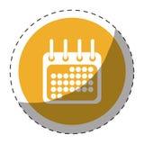 Calendar or agenda button thumbnail icon image Stock Photo