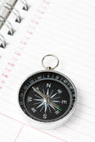Calendar agenda and compass Stock Photography