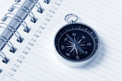 Calendar agenda and compass Royalty Free Stock Image