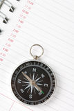 Calendar agenda and compass Royalty Free Stock Photography
