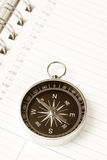 Calendar agenda and compass Stock Photos