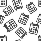 Calendar agenda seamless pattern background icon. Business flat Royalty Free Stock Images