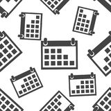 Calendar agenda seamless pattern background icon. Business flat Stock Images