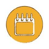Calendar or agenda thumbnail icon image Royalty Free Stock Photography