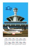 2017 Calendar Airport Royalty Free Stock Images