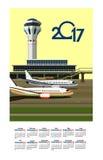 2017 Calendar Airport Stock Photo