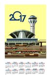 2017 Calendar Airport Royalty Free Stock Photo