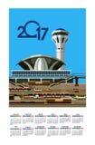 2017 Calendar Airport Stock Image