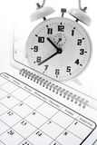 Calendar and Alarm Clock Royalty Free Stock Photos