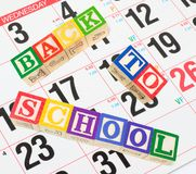 Calendar and Alphabet Blocks Royalty Free Stock Photography