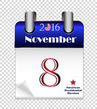 Calendar of American Presidential Election 2016 Stock Images