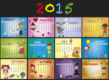 Calendar 2015. A 2015 annual calendar template royalty free illustration