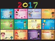 Calendar 2017 Stock Image