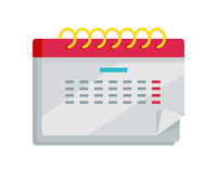 Calendar App Icon in Flat Design. Web Organizer Royalty Free Stock Photography