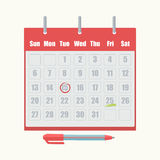 Calendar appointment date mark vector icon Stock Photography