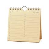 Calendar - April 2009. Desktop Calendar - April 2009, isolated in white Stock Photo