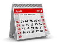 Calendar - April 2017 Royalty Free Stock Photos