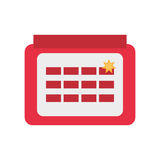 Calendar april fools day Stock Photo